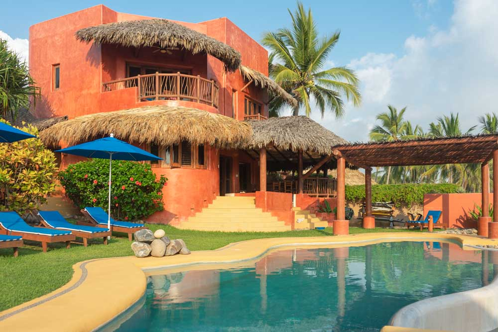 villa 2 La Saladita Mexico Ocean View Villas 2300 Square Ft 3 bedrooms 3 baths