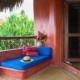 balcony couch La Saladita Mexico Ocean View Villas