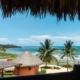 balcony view Eco-Friendly Beachfront Property La Chuparosa de Saladita