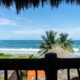 view from bedroom 2 La Saladita Mexico Ocean View Villas 2300 Square Ft 3 bedrooms 3 baths