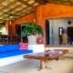 outdoor lounge and dining area Beachfront Property La Chuparosa de Saladita