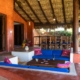 Outdoor lounge and dining La Saladita Mexico Ocean View Villas