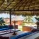 outdoor lounge La Chuparosa de Saladita Mexico surf vacation